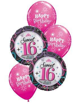 16th Birthday Funky Balloons Wollongong NSW Helium Balloon Gift